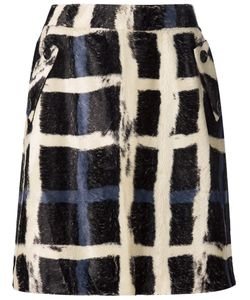 Aeron | Printed Check Skirt