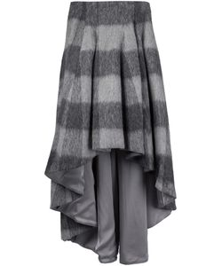 Dominic Louis | Plaid High-Low Skirt