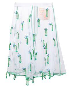 Mikio Sakabe | Organza Embroidered Skirt