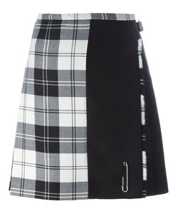 Le Kilt | Checked Paneled Pleated Skirt