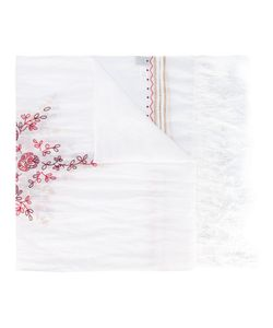 Forte Forte | Open Embroidery Fringed Scarf