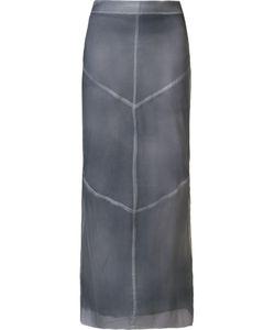 Uma | Panelled Long Straight Skirt