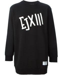 Ejxiii   Printed Oversized Sweatshirt