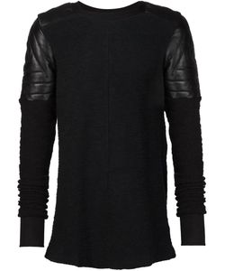 Ada + Nik | Leather Shoulder-Patch Sweater