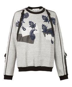 James Long | Mesh And Lace Appliqué Buckled Sweatshirt