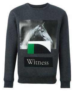 Cy Choi   Patch Printed Sweatshirt