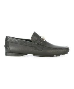 Versace | Lizard Effect Medusa Driving Shoes Size 42 Leather/Metal