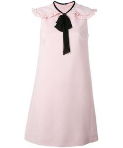 Giamba | Ruffled Shoulders Shift Dress Size 42