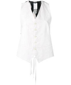 Ann Demeulemeester | Striped Open Back Waistcoat Size 40