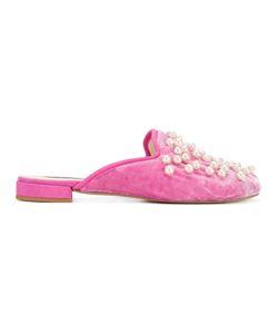 Natasha Zinko   Pearl And Velvet Slippers Size 38