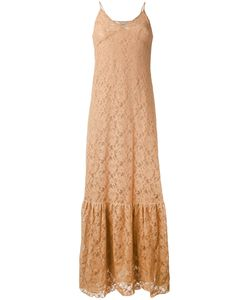 Nude | Long Sleeveless Lace Dress
