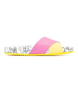 Mira Mikati | Printed Cross Strap Slippers Calf