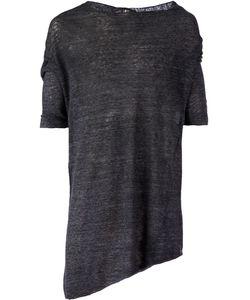 Lost And Found   Asymmetric Hem Knit T-Shirt