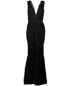 Marchesa Notte | Embroidered Plunge Gown Size 8