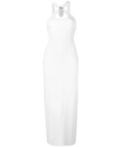 Alessandra Rich | Halter Midi Dress