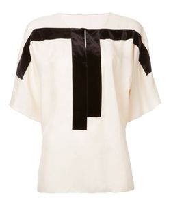 MS MIN | Contrast Panel Blouse
