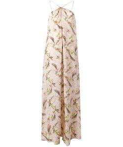 Cacharel | Feather Print Long Dress