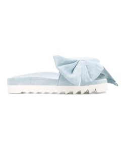 Joshua Sanders | Denim Bow Slippers