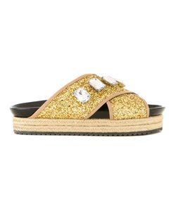 Muveil   Embellished Platform Sandals Size 37