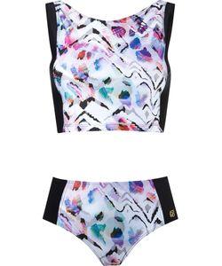 Brigitte | Printed Crop Top Bikini Set