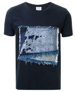 Fad Three | Frayed Denim Patch T-Shirt