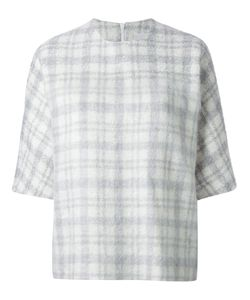 J Js Lee | Tartan Pattern Bell Sleeve Top