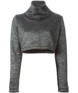 Victoria/Tomas | Turtle Neck Cropped Sweatshirt