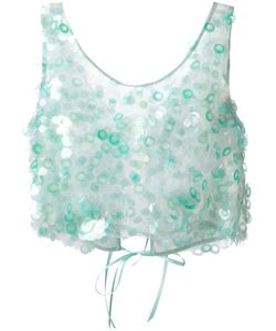 Daizy Shely | Paillette Embellished Crop Top