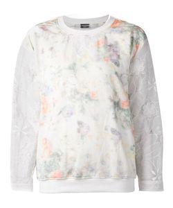 Alexis Mabille | Printed Sheer Detail Sweatshirt