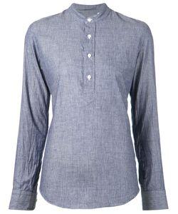 Salvatore Piccolo | Mandarin Collar Striped Shirt