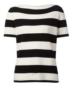 Bouchra Jarrar | Striped Short Sleeve Sweater