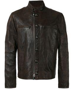 John Varvatos | Button-Down Leather Jacket Size 50
