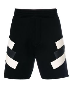 Neil Barrett | Geometric Patch Sweatshorts