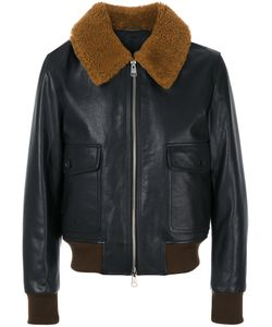 AMI Alexandre Mattiussi | Zipped Shearling Collar Jacket