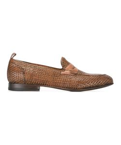 Silvano Sassetti | Interlaced Effect Penny Loafers Size 9