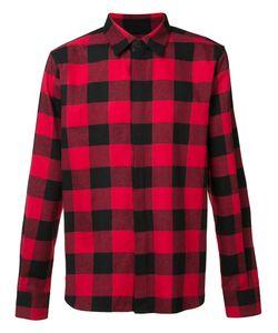 En Noir | Checked Shirt Large Cotton/Leather