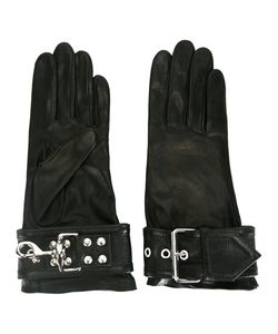 Balenciaga | Buckle-Detail Gloves Size 7.5