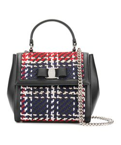 Salvatore Ferragamo | Small Vara Crocheted Tote Leather/Wool/Metal