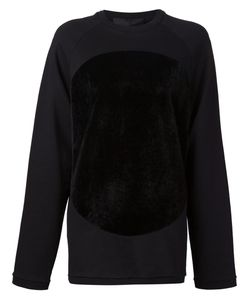 Mads Dinesen | Faux Fur Circle Patch Sweatshirt