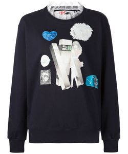 Jenny Fax   Lace Collar Sweatshirt