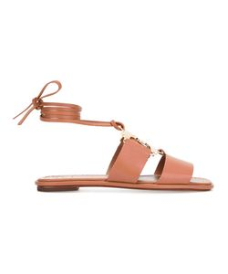 Tory Burch | Gemini Link Lace-Up Sandals Size 8.5 Leather/Nappa
