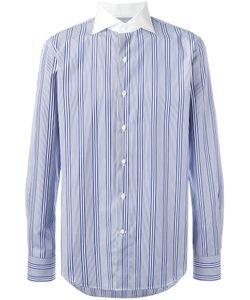 Gabriele Pasini   Striped Contrast Collar Shirt 39