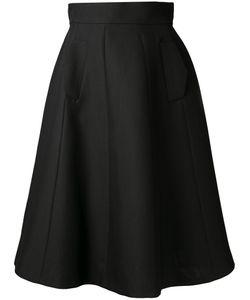 Martin Grant | Fla A-Line Midi Skirt 38 Silk/Virgin