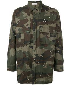 Faith Connexion   Jewel Studded Camouflage Shirt Size Medium