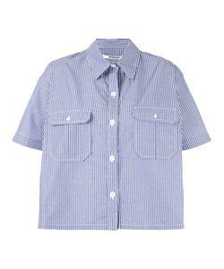 Chalayan | Striped Cape Shirt Size 40