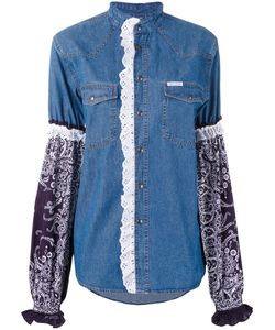 Forte Couture | Printed Sleeve Denim Shirt