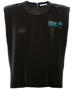 Thomas Tait   Pleated Front Printed Top
