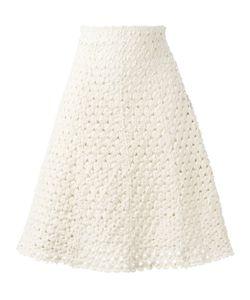 Sonia Rykiel | Knitted A-Line Skirt 38 Cotton/Spandex/Elastane