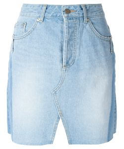 Steve J & Yoni P | Front Slit Denim Skirt