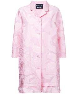 Boutique Moschino | Leaf Patterned Ruffle Hem Coat